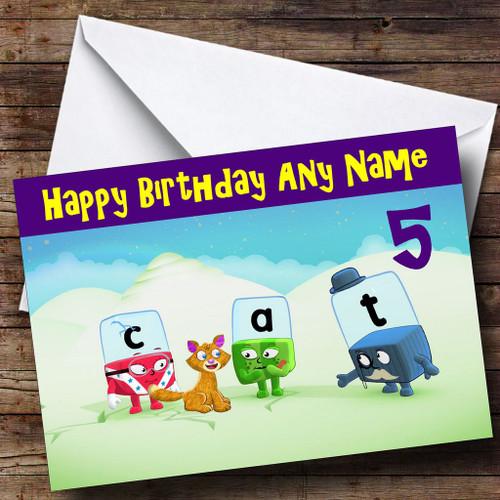 Alphablocks Personalised Birthday Card