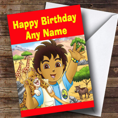 Go Jetters Purple Personalised Children's Birthday Card