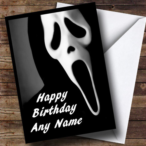 Scream Scary Horror Personalised Birthday Card