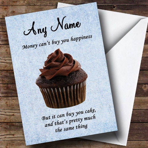 Personalised Ladies Women Bake Off Baking Birthday Card Spoof Any Name//Message