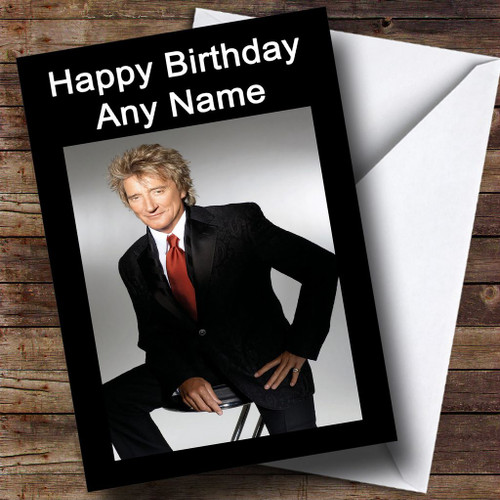 Rod Stewart Personalised Birthday Card