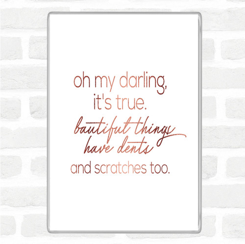 Black White Oh My Darling Quote Jumbo Fridge Magnet - The