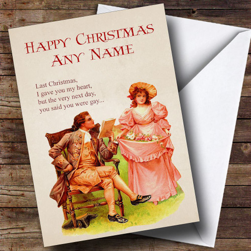 Funny Last Christmas Gay Personalised Christmas Card
