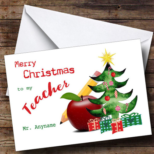 Christmas Cards For Teachers.Personalised Cards Christmas Cards Christmas Cards For