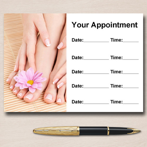 Nail Pedicure Manicure Salon Personalised Appointment Cards