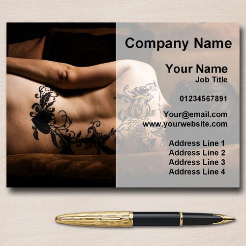 Tattooist Tattoo Artist Studio Piercing Personalised Business Cards