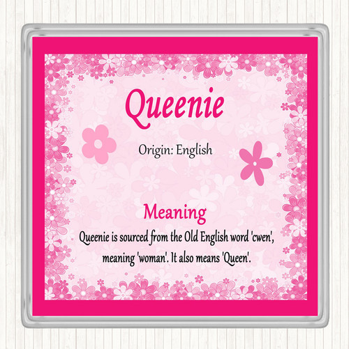 Queenie Name Meaning Pink Certificate - The Card Zoo