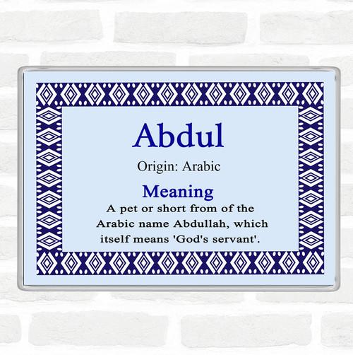 Orlando Name Meaning Jumbo Fridge Magnet Blue - The Card Zoo