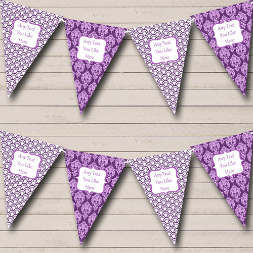 Black Floral And Old Gold Personalised Wedding Venue or Reception Bunting