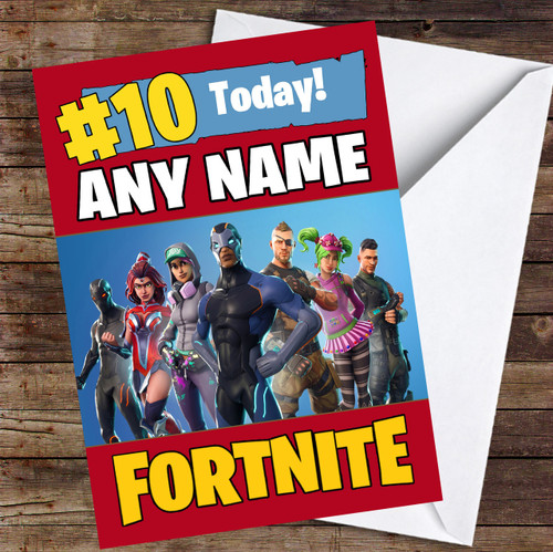 Fortnite Battle Pass Personalised Children's Birthday Card