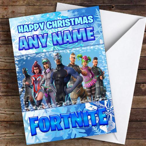 Fortnite Battle Pass Personalised Children's Christmas Card