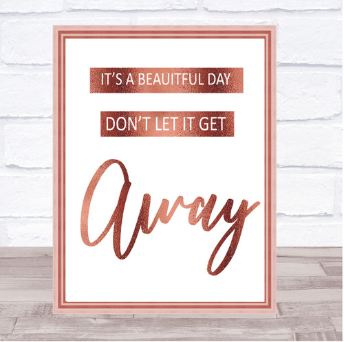Rainbow U2 It's A Beautiful Day Song Lyric Quote Print - The Card Zoo