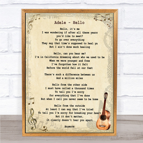 I Hope You Dance Vintage Heart Song Lyric Quote Print