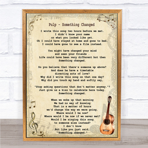 Wall Art & Posters - Song Lyric Prints - Vintage Guitar - Page 6