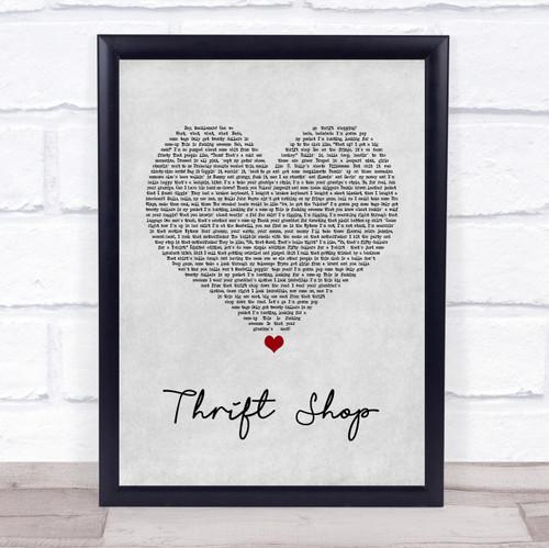 Macklemore & Ryan Lewis Thrift Shop Vintage Heart Song Lyric ...