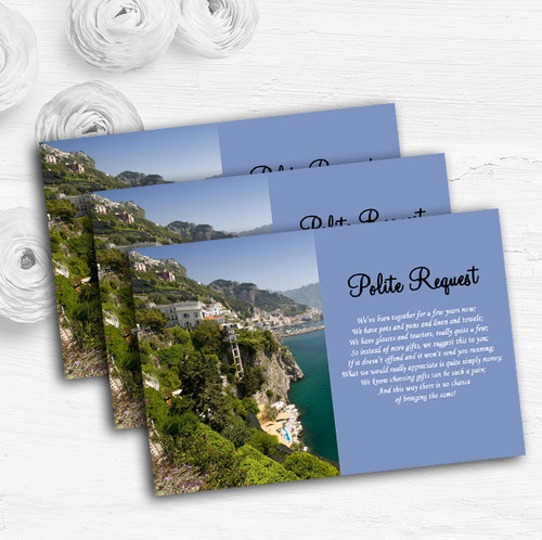 Italy Sorrento Abroad Personalized Wedding Save The Date Cards