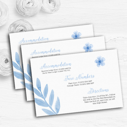 Watercolour Subtle Powder Baby Blue Personalised Evening