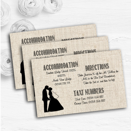 Cotton Chic Personalised Wedding Guest Information Cards