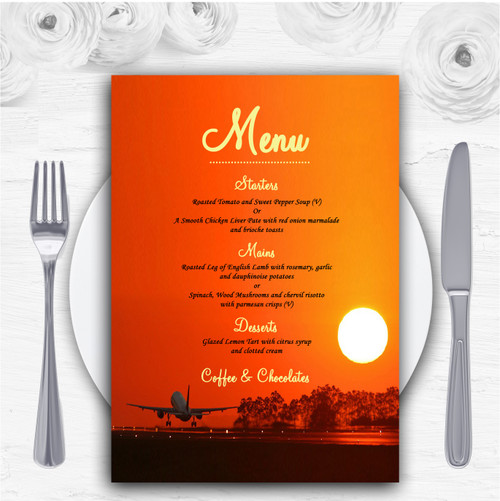 New York Personalised Wedding Menu Cards