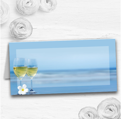 Wine On The Beach Wedding Table Seating Name Place Cards