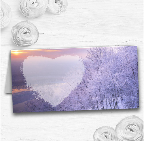 Winter Scene Beautiful Wedding Table Seating Name Place Cards