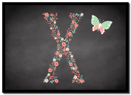 Chalk Letter Initial X  Personalised Mousemat