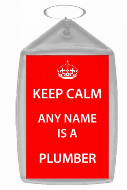 Plumber Personalised Keep Calm Keyring