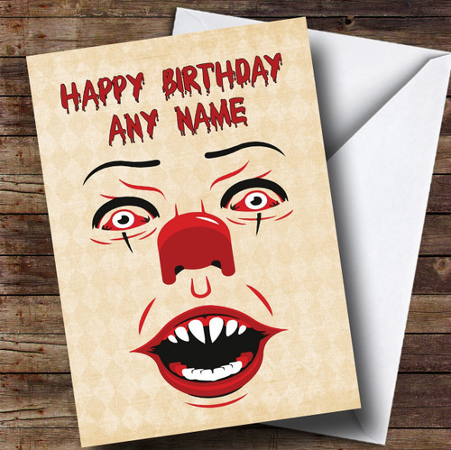 Pennywise Clown It Personalised Birthday Card