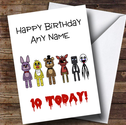 Personalised Five Nights At Freddy's Fnaf All Characters