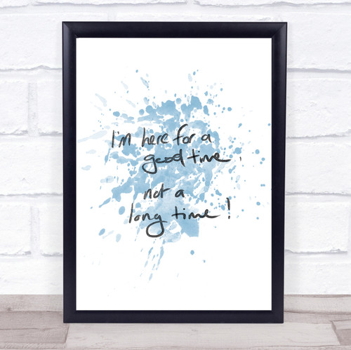Good Things Take Time Inspirational Quote Print Blue Watercolour