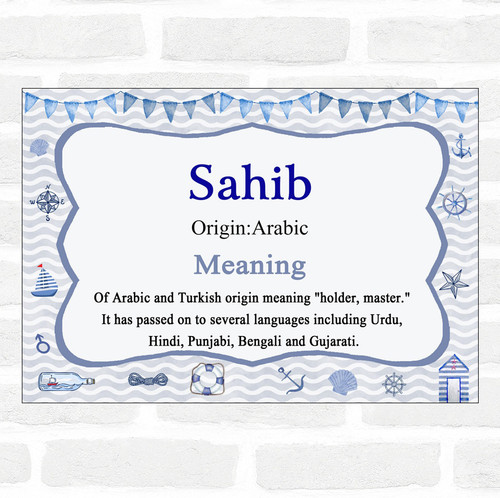 Sahib Name Meaning Nautical Certificate