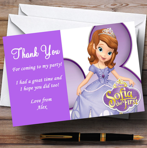 Sofia The First Princess Personalised Children S Birthday Party