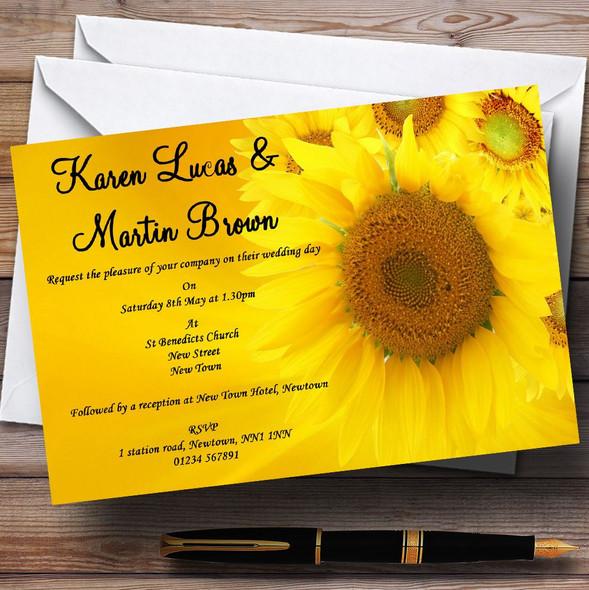 Sunflowers Personalised Wedding Invitations
