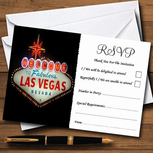 Las Vegas Sign Fabulous Personalised RSVP Cards