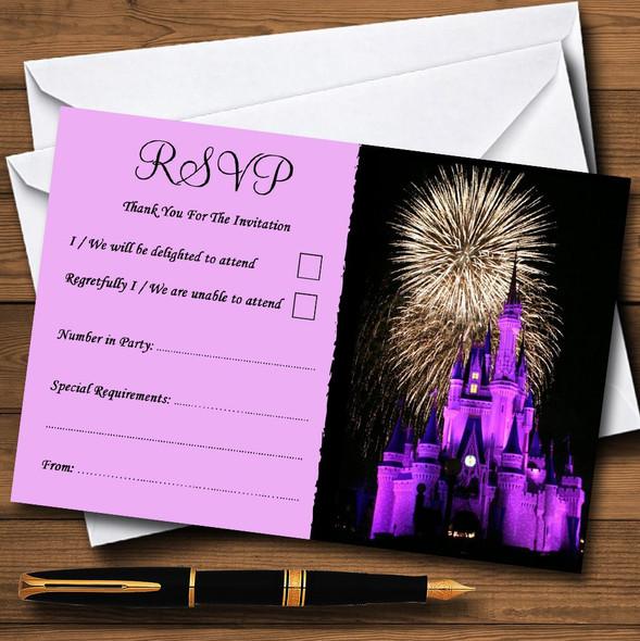Disney Castle Fireworks Personalised RSVP Cards