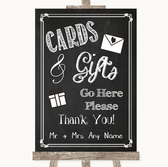 Chalk Style Cards & Gifts Table Personalised Wedding Sign