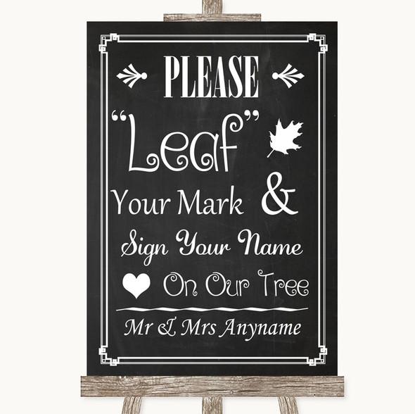 Chalk Style Fingerprint Tree Instructions Personalised Wedding Sign