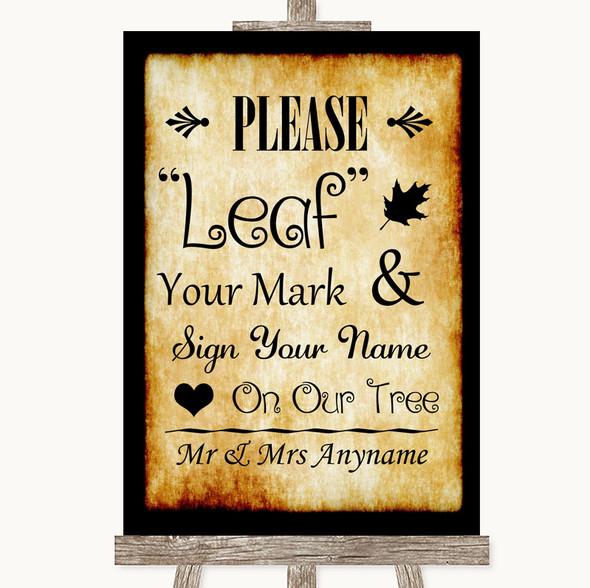 Western Fingerprint Tree Instructions Personalised Wedding Sign