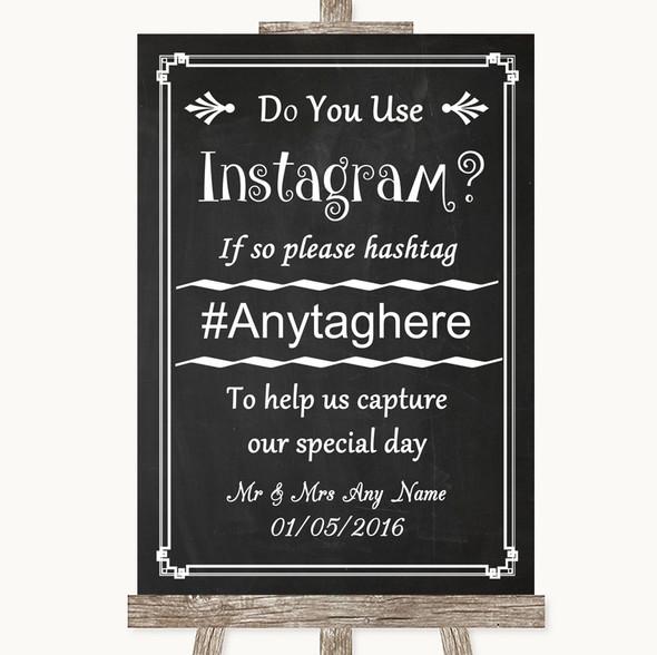 Chalk Style Instagram Photo Sharing Personalised Wedding Sign