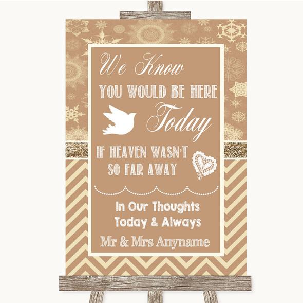 Brown Winter Loved Ones In Heaven Personalised Wedding Sign