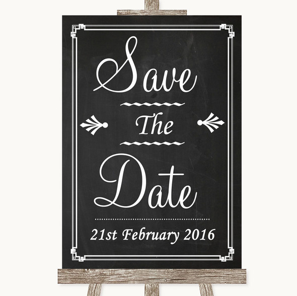 Chalk Style Save The Date Personalised Wedding Sign