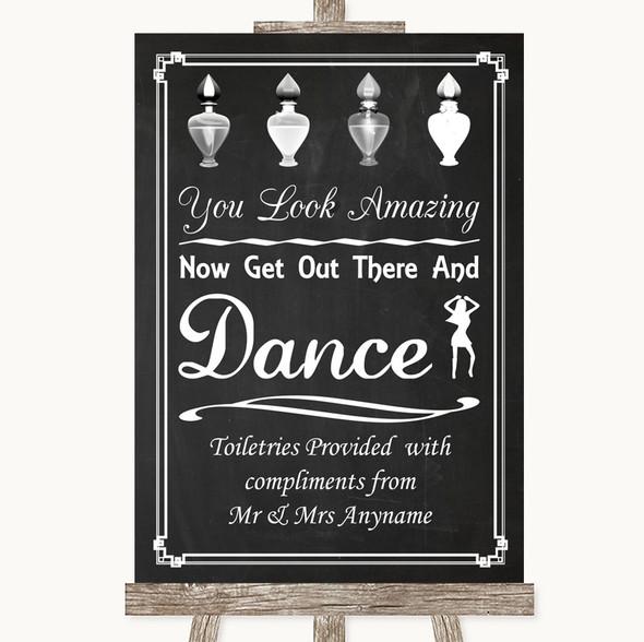 Chalk Style Toiletries Comfort Basket Personalised Wedding Sign