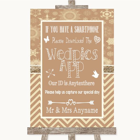 Brown Winter Wedpics App Photos Personalised Wedding Sign