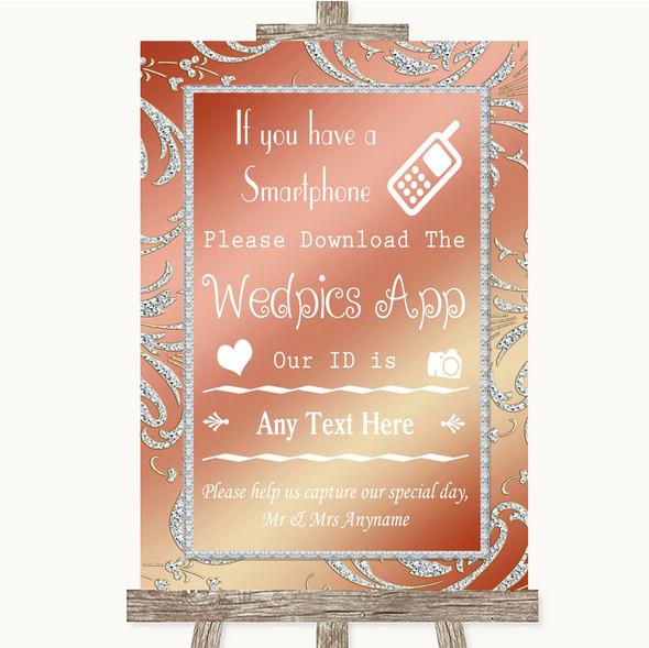Coral Pink Wedpics App Photos Personalised Wedding Sign