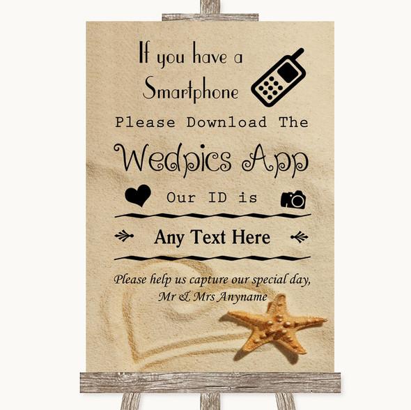 Sandy Beach Wedpics App Photos Personalised Wedding Sign