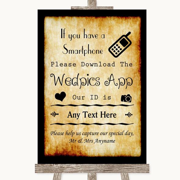Western Wedpics App Photos Personalised Wedding Sign