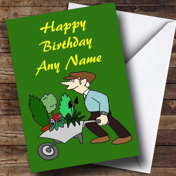 Gardening Personalised Birthday Card