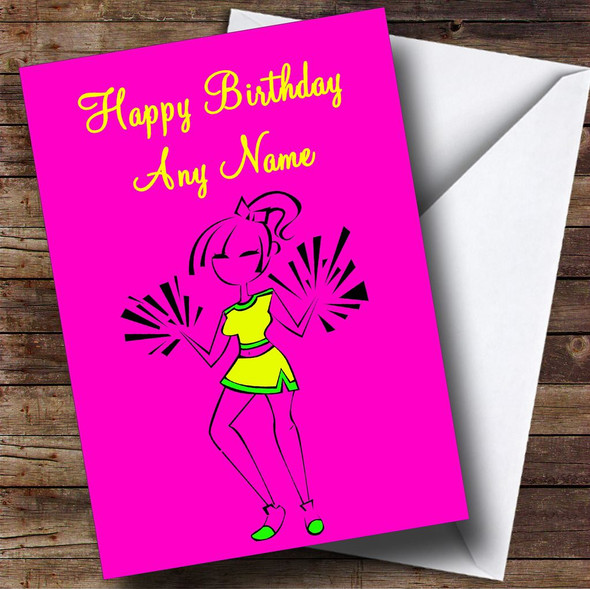 Cheerleading Personalised Birthday Card