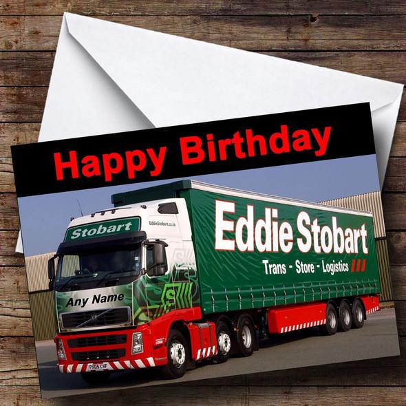 Eddie Stobart Your Name On Truck Personalised Birthday Card
