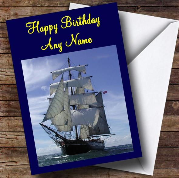 Sailing Ship Personalised Birthday Card